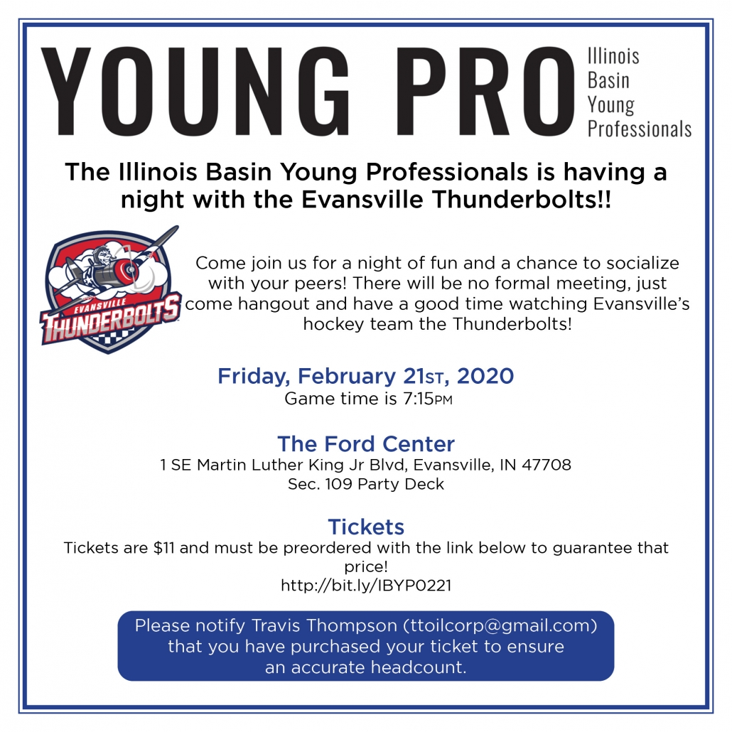 Illinois Basin Young Professionals February 2020 Meeting @ The Ford Center